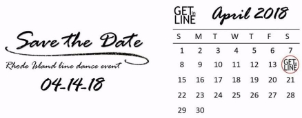 Save the date - Get in Line RI 2018